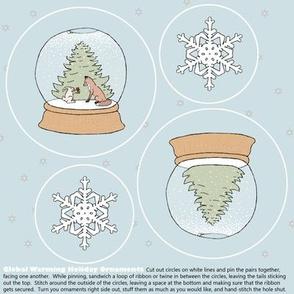 global warming ornament set
