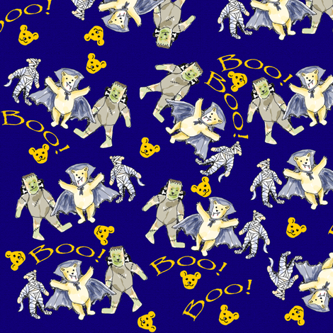 Halloween Teddy Bears 2 fabric by eclectic_house on Spoonflower - custom fabric