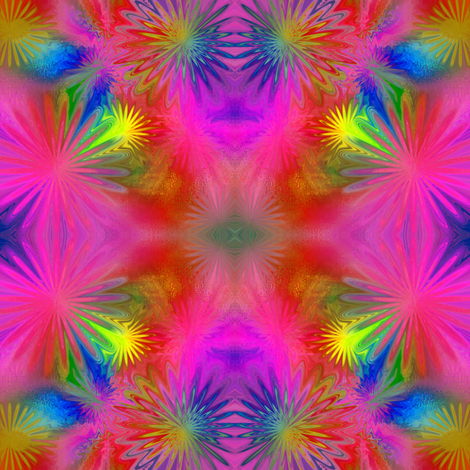 Exploding Starbursts 4x4 fabric by missourah_gal on Spoonflower - custom fabric