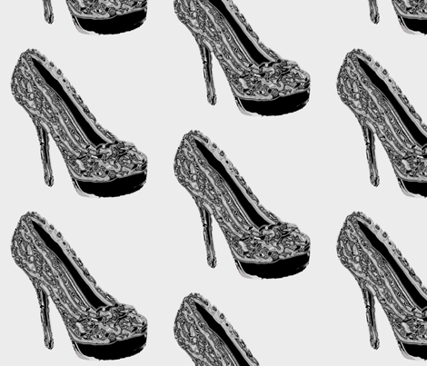 Glass Slipper fabric by miss_peaches on Spoonflower - custom fabric