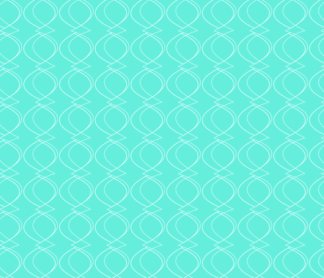 Turquoise Spring fabric by fleamarkettrixie on Spoonflower - custom fabric