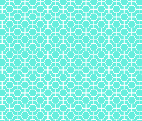 White Lattice fabric by fleamarkettrixie on Spoonflower - custom fabric