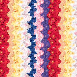 Floral Chevron Multi - railroaded