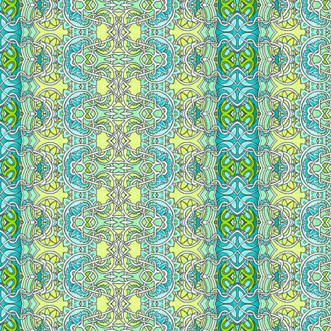 Tangled Aqua Dreams fabric by edsel2084 on Spoonflower - custom fabric
