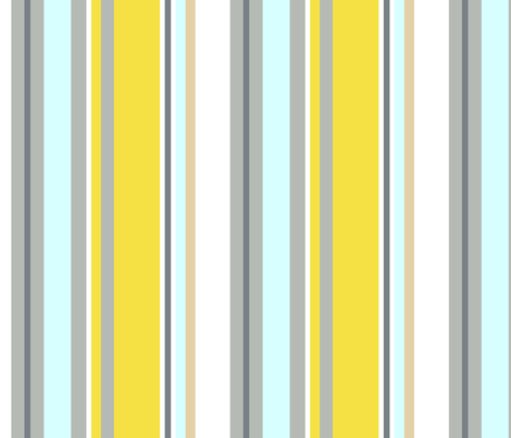 "SLICE STRIPE in ""SUNNY FOG"" fabric by trcreative on Spoonflower - custom fabric"