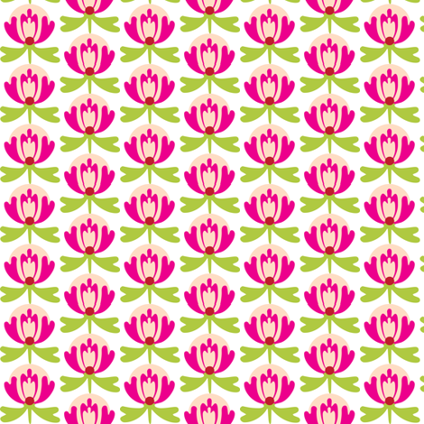 lillipink fabric by lilliblomma on Spoonflower - custom fabric