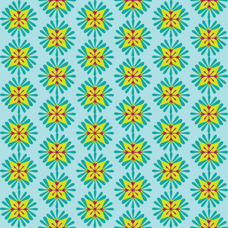 wuschel_greenblue fabric by lilliblomma on Spoonflower - custom fabric