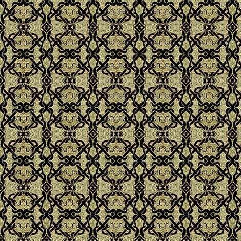 Celtic Brocade (tan/black) fabric by edsel2084 on Spoonflower - custom fabric