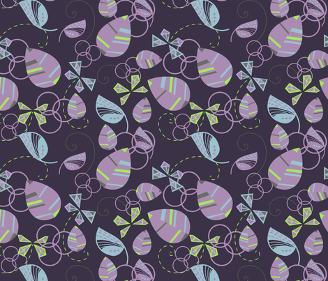 Moths & Leaves 2 fabric by marlene_pixley on Spoonflower - custom fabric
