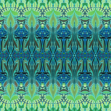 First Thing In Spring Under Water (largest scale) fabric by edsel2084 on Spoonflower - custom fabric