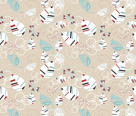 Moths & Leaves fabric by marlene_pixley on Spoonflower - custom fabric