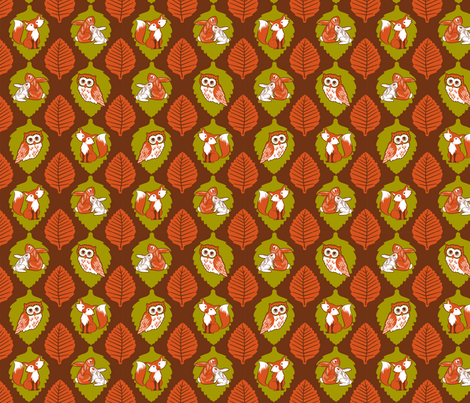 Autumn in the forest friends fabric by cjldesigns on Spoonflower - custom fabric