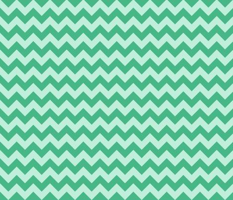 baby elephant green mint chevron fabric by scrummy on Spoonflower - custom fabric