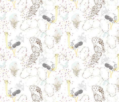 Aviary fabric by marlene_pixley on Spoonflower - custom fabric