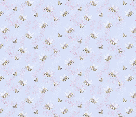 Horse Bee ditsy fabric by marlene_pixley on Spoonflower - custom fabric