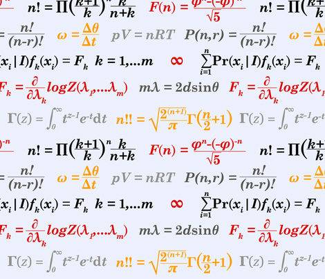 Equations and Equations - Gray fabric by primenumbergirl on Spoonflower - custom fabric