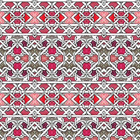 Secret Life of a Knit Red Sweater fabric by edsel2084 on Spoonflower - custom fabric