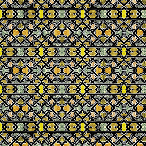 Golden Diamond Twists fabric by edsel2084 on Spoonflower - custom fabric