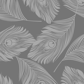 Feathered - grey