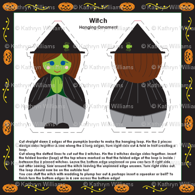 Witch ornament or finger puppet!