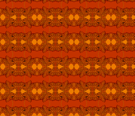Castle_Mountain_Tile_Orange fabric by artisticendeavors on Spoonflower - custom fabric