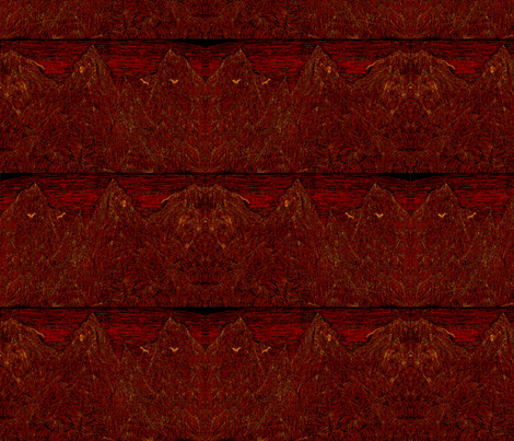 Mountains_Hot_Tile fabric by artisticendeavors on Spoonflower - custom fabric