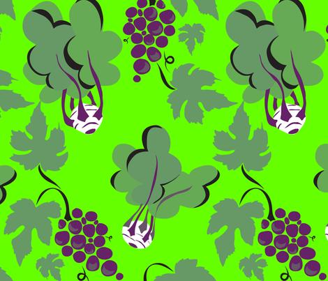 Kohlrabi & Grapes fabric by marlene_pixley on Spoonflower - custom fabric