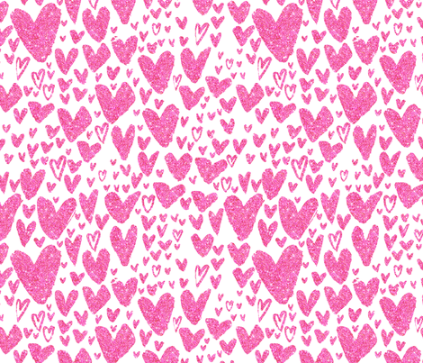 Glitter Hearts fabric by cynthiafrenette on Spoonflower - custom fabric