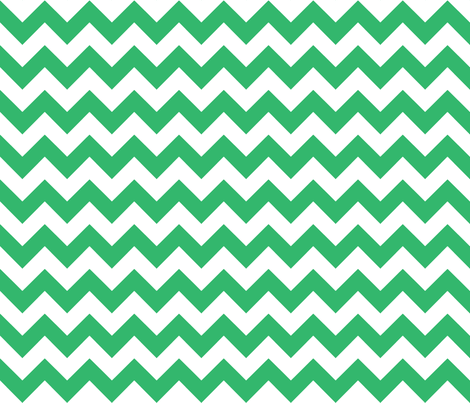 chevron_emerald fabric by walrus_studio on Spoonflower - custom fabric