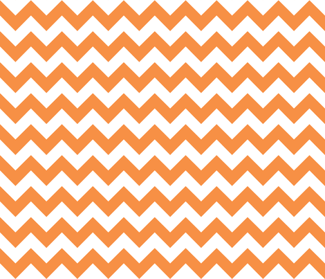 chevron_tangerine fabric by walrus_studio on Spoonflower - custom fabric