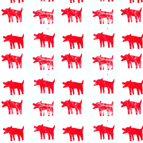 Perros Rojos - Red Dogs fabric by entoncesrosaura on Spoonflower - custom fabric