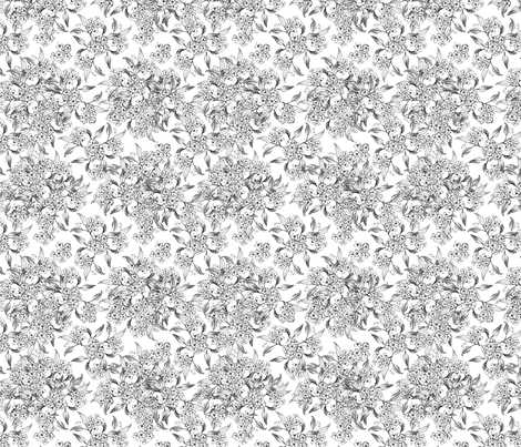 Vintage Floral fabric by klowe on Spoonflower - custom fabric