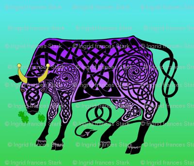 Purple Celtic Cow Banner