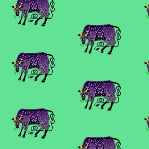 Purple Celtic Cow Small