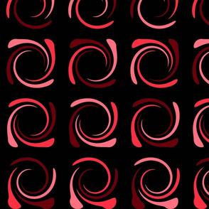 Black and Pink Berry Swirl