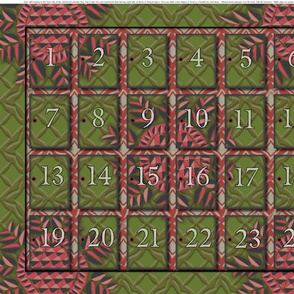 ADVENT CALENDAR - set of two per yard