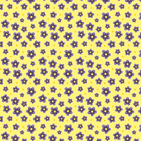 Lilac Blooms fabric by eppiepeppercorn on Spoonflower - custom fabric