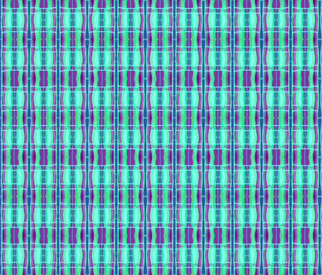 Lively Maroon and Aqua Stripe fabric by robin_rice on Spoonflower - custom fabric