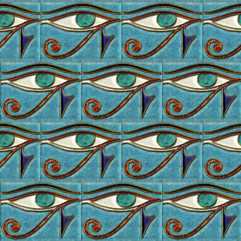 Eye of Horus Inlay fabric by eclectic_house on Spoonflower - custom fabric
