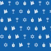 Hanukkah Motif blue