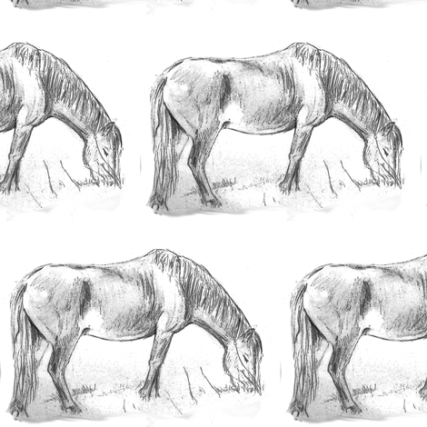 Pony Grazing 2 fabric by eclectic_house on Spoonflower - custom fabric