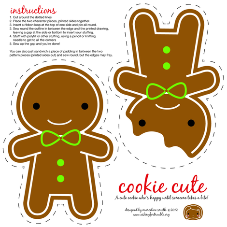Cookie Cute Christmas Ornament fabric by marcelinesmith on Spoonflower - custom fabric
