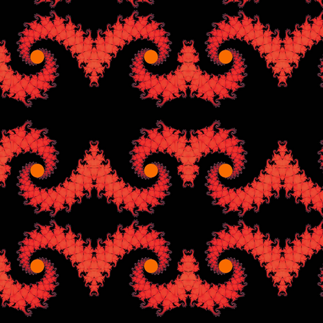 Fire Dragon tails fabric by eclectic_house on Spoonflower - custom fabric