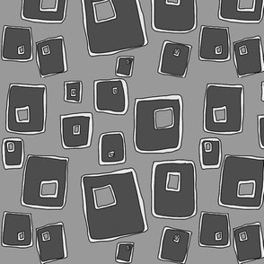 Squares Repeat Grey on_Grey