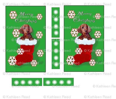 dachshund Christmas walll hanging
