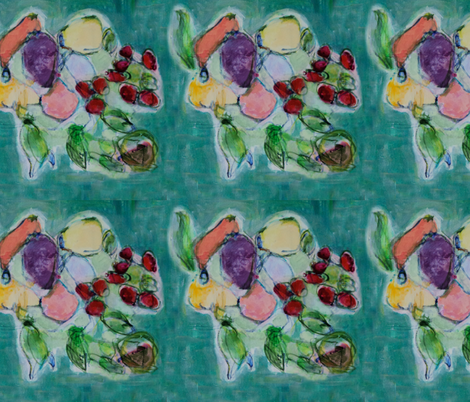 Cherries fabric by patsyd on Spoonflower - custom fabric