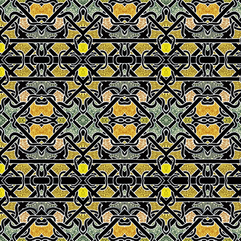Diagonal weaving in gold and black fabric by edsel2084 on Spoonflower - custom fabric