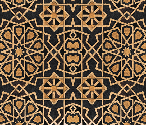 Black and Tan Geometric fabric by whimzwhirled on Spoonflower - custom fabric