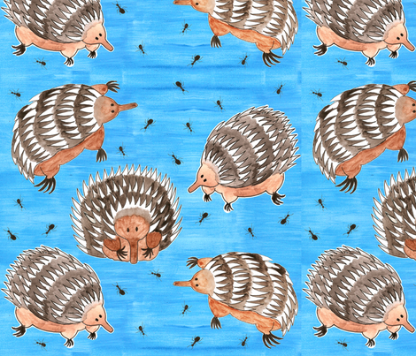 echidnas and ants fabric by chooks on Spoonflower - custom fabric