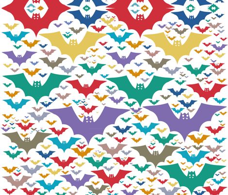 bats fabric by karmacranes on Spoonflower - custom fabric